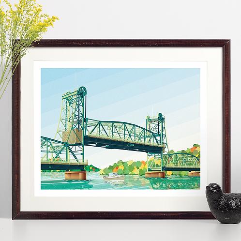 Stillwater Lift Bridge in Fall