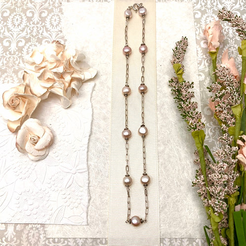 Barely Pinky Pearls necklace