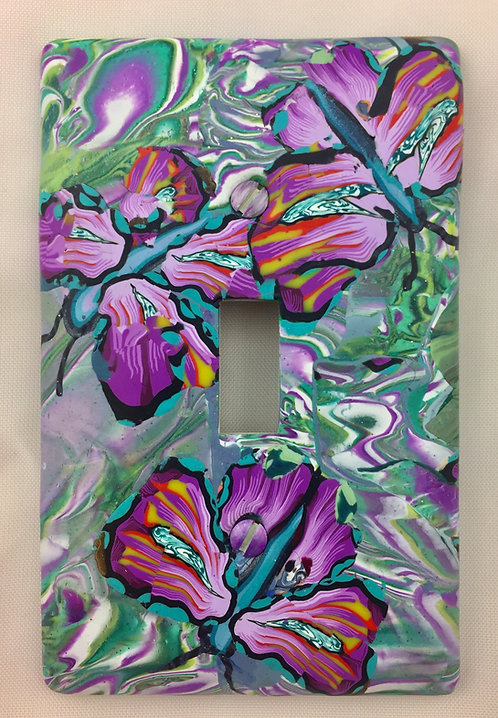 Single Orchid Butterflies Plate