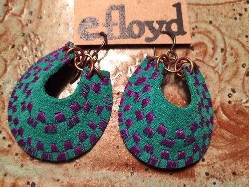 Green Crescent Stitched Purple