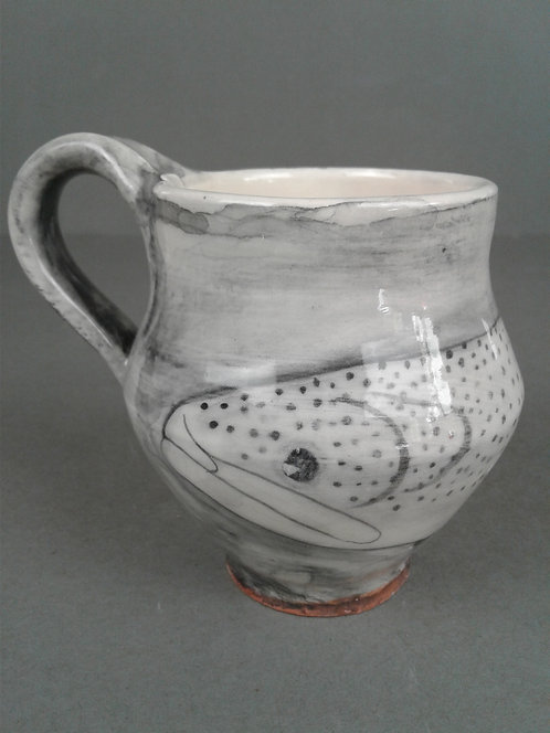 Black and White Trout Cup