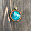 Thumbnail: Dragonfly Alcohol Ink Wood Circle Pendant Necklace