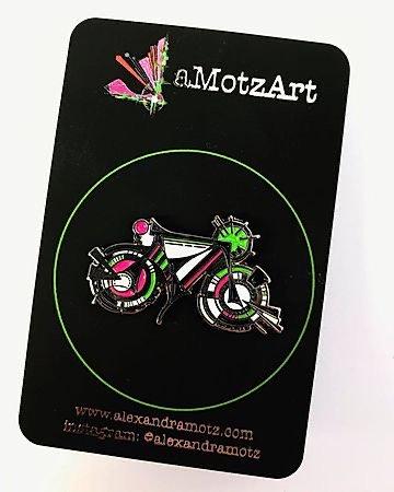 Retro Enamel Bike Pin