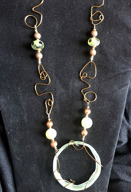 Green Jade and Wire