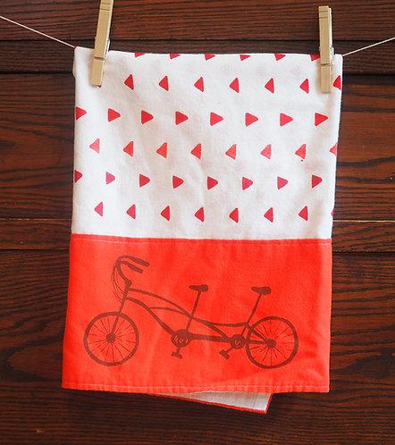 Tea Towel Tandem Bike