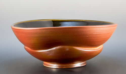 Tenmuku Lined Undulating Curved Bowl