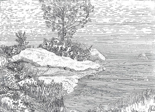Lake with Rocks