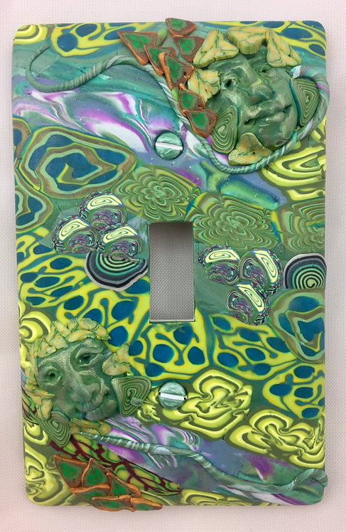 Single Face Plate- Greens