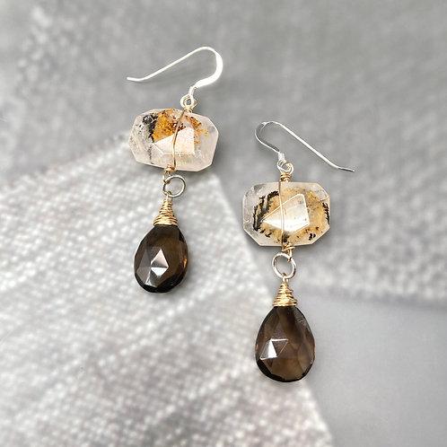 Two Story Earrings