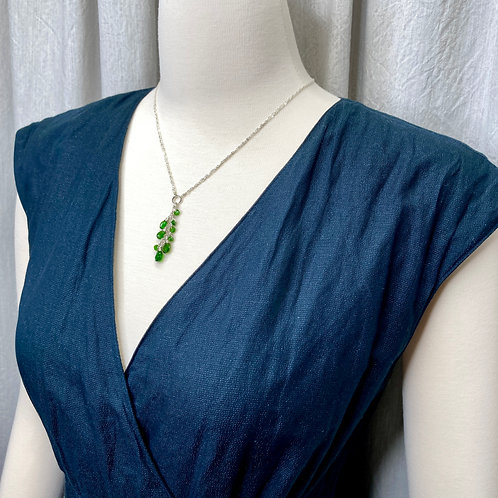 Chrome Diopside Waterfall Necklace