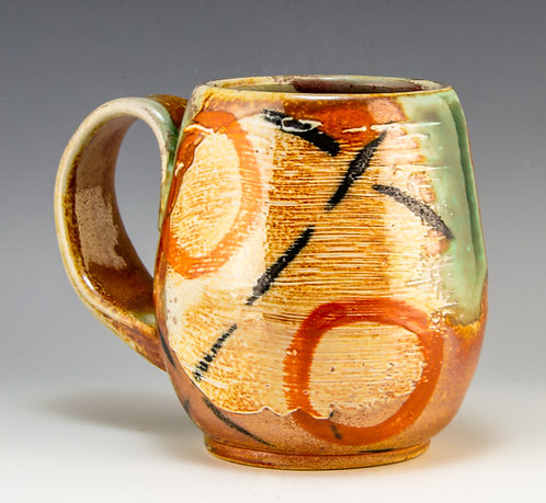 Orange Circles Mug