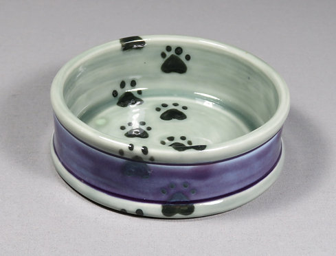 Paw Print Trail Cat Food Dish