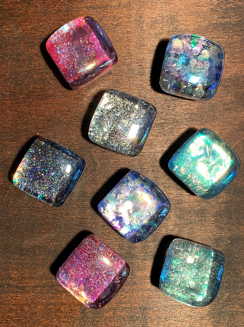 Square Sparkles Magnet Set (8)