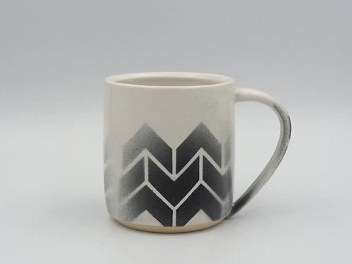 Gray & White Mug With Chevrons