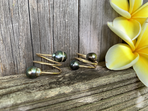 Tahitian Pearl Double Bypass Ring