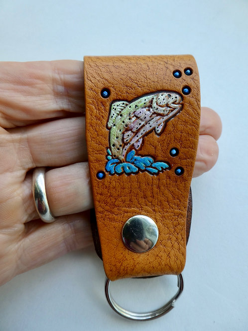 Trout Snap On Keyring