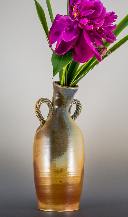 Bud Vase with Textured Handles