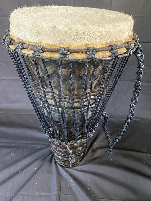 Carved ashiko - Blue and black