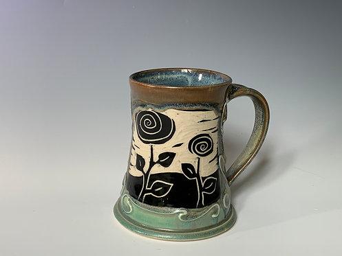 Flower Tankard Mugs