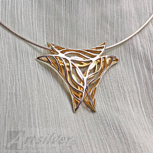 Inverted Wave Triangle Pendant Style KS015