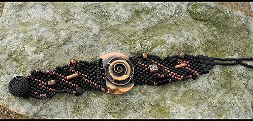 Upcycled Vintage Copper Filigree Bracelet