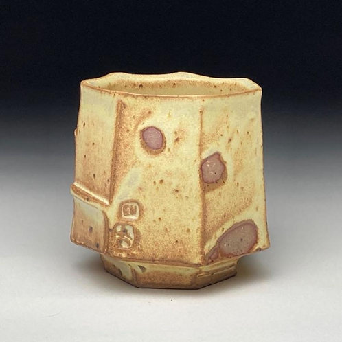 Yellow Faceted Yunomi