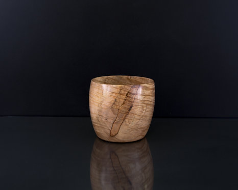 Exquisite Curley Maple Cup Shaped Bowl