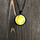 Thumbnail: Yellow Rose Alcohol Ink Pendant Necklace
