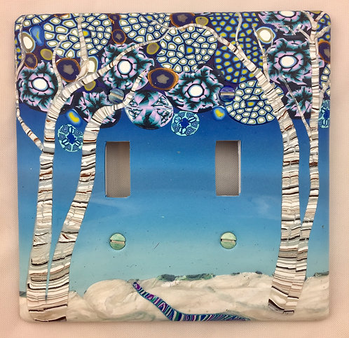 Double Winter Magic Switchplate