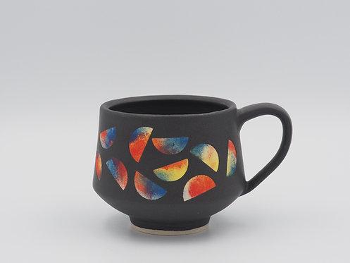 Multicolored Mug With Semicircles
