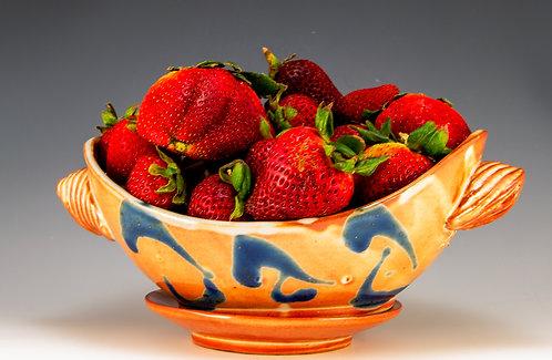 Orange Shino Berry Bowl/Saucer