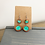 Thumbnail: Teal and Gold Alcohol Ink in Wood Earrings Double Circle