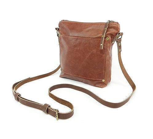 Brown Leather Shoulder Crossbody Bag