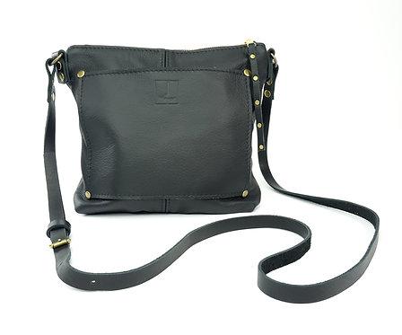 Black Leather Shoulder Crossbody Bag