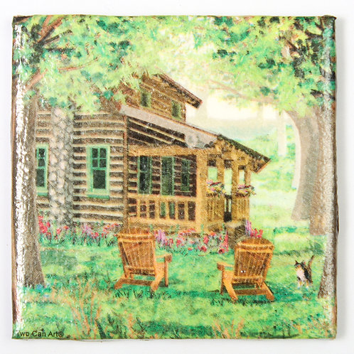 Log Cabin:  Set of 4