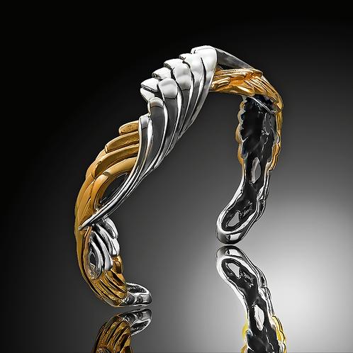 Mobius Angel Wing Cuff Bracelt Style KS244