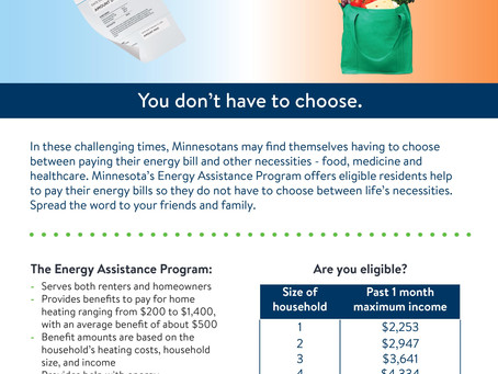 Minnesota Energy Assistance Program - New COVID-19 based eligibility
