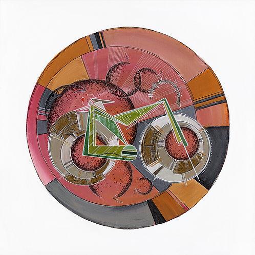 Fat Tire Bike Babe Print