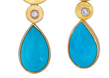 Turquoise with Diamonds Earrings ER 150.