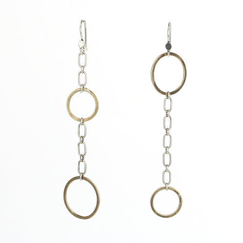 Mix-matched Chain Dangle Earrings