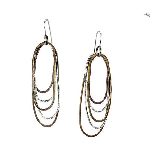 Oval Ripple Earrings