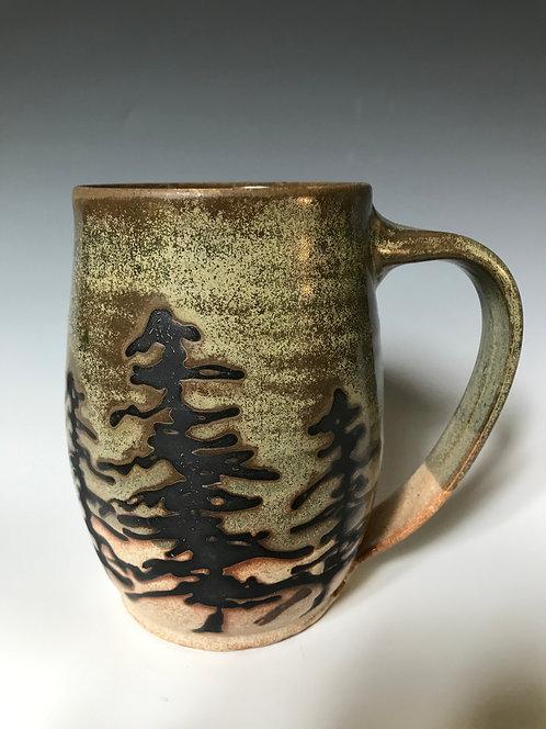 Green Tree Mug