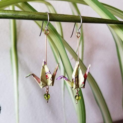 Origami Crane Earrings #6