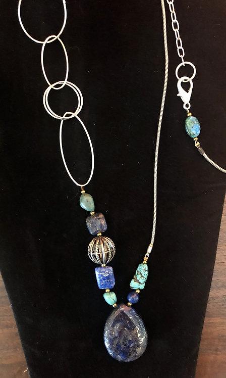 Asymetrical Lapis & Turquoise