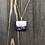 Thumbnail: Purple/White/Gold Square Alcohol Ink Pendant Neckace