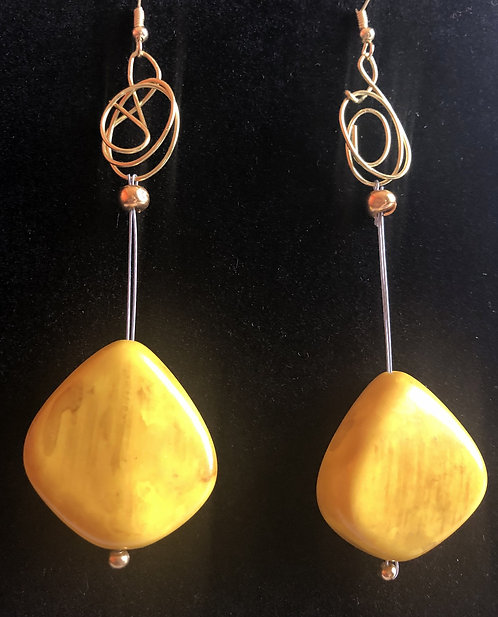 Yellow Bangle Drops