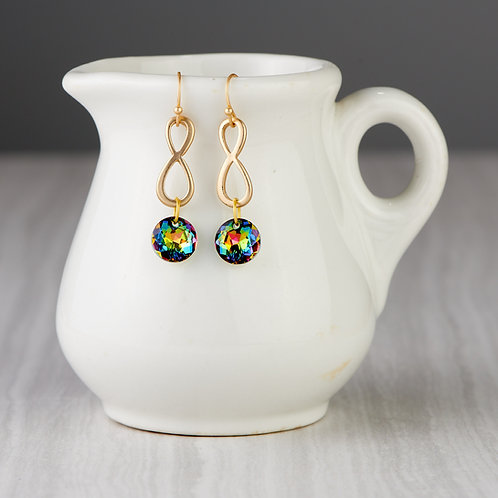 Gold Infinity Symbol Earrings