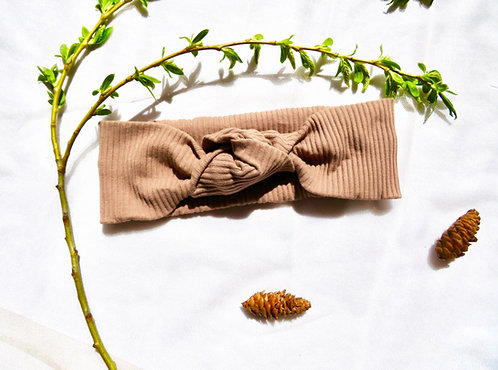 The Cappuccino Knotted Headband