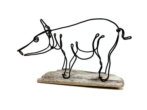 Pig Wire Sculpture