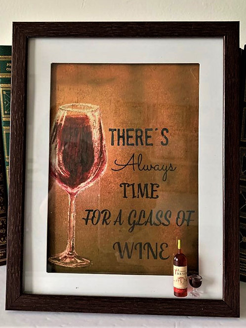 """Wine Lovers"" Shadowbox"